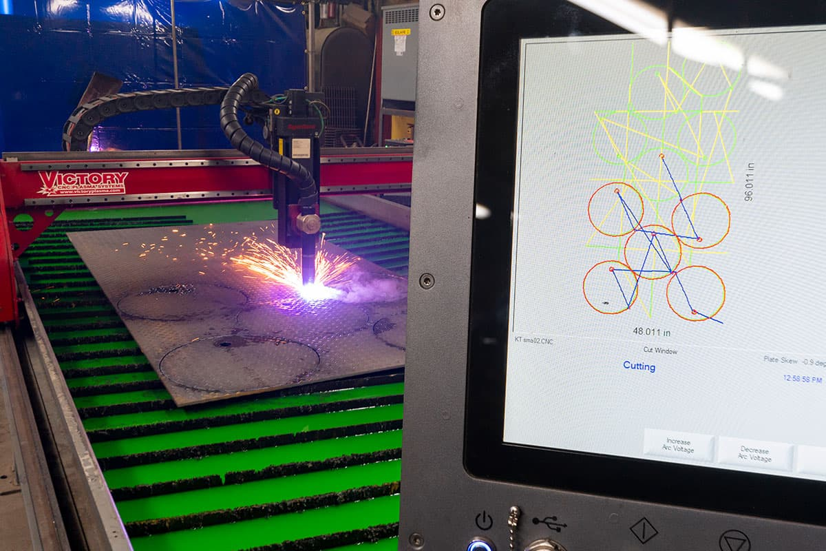 CNC Plasma Cutting Computer Process