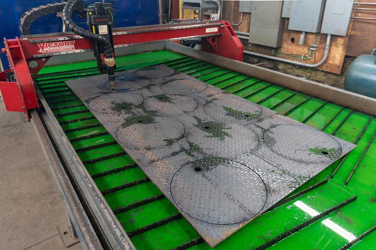 Plasma Cutting Machine In Process